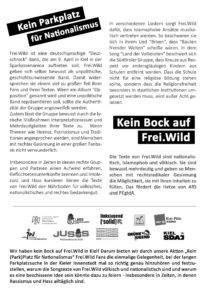 Kein Parkplatz für Nationalismus - Kein Bock auf Frei.Wild Aufruf Seite 2