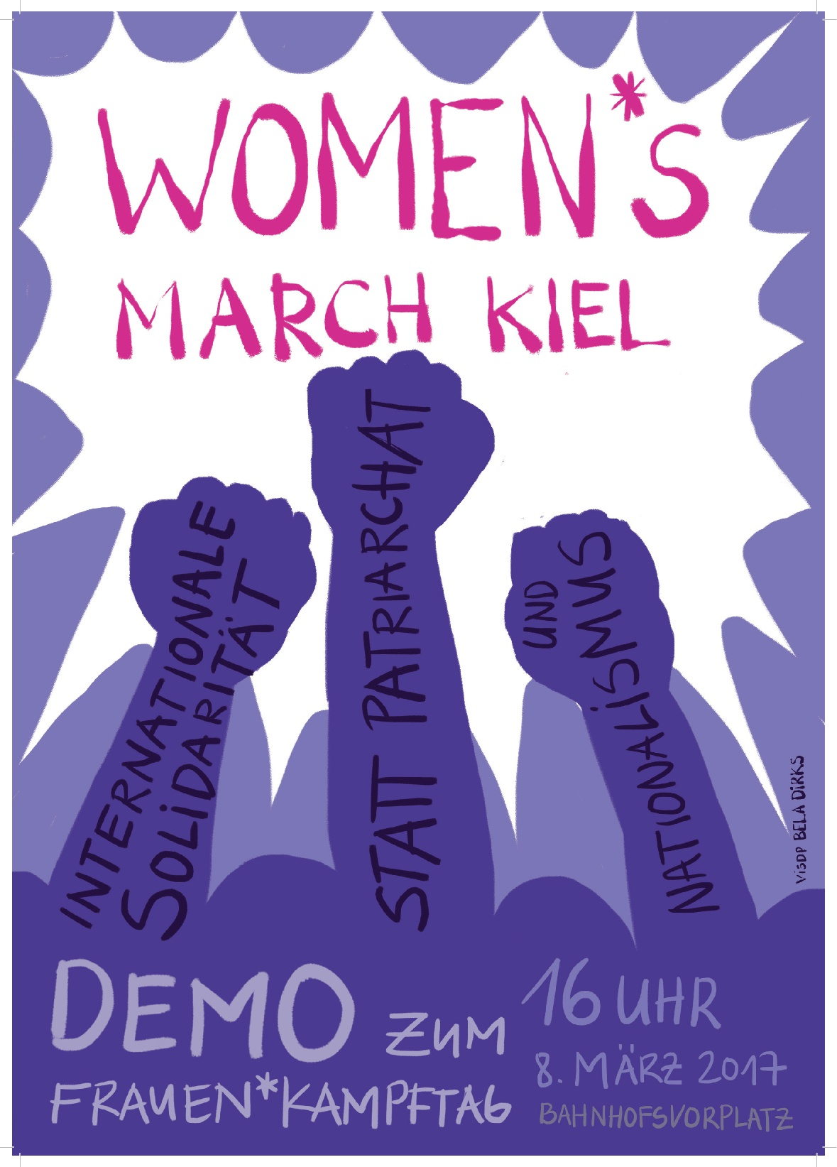Aufruf zum Women*s March Kiel