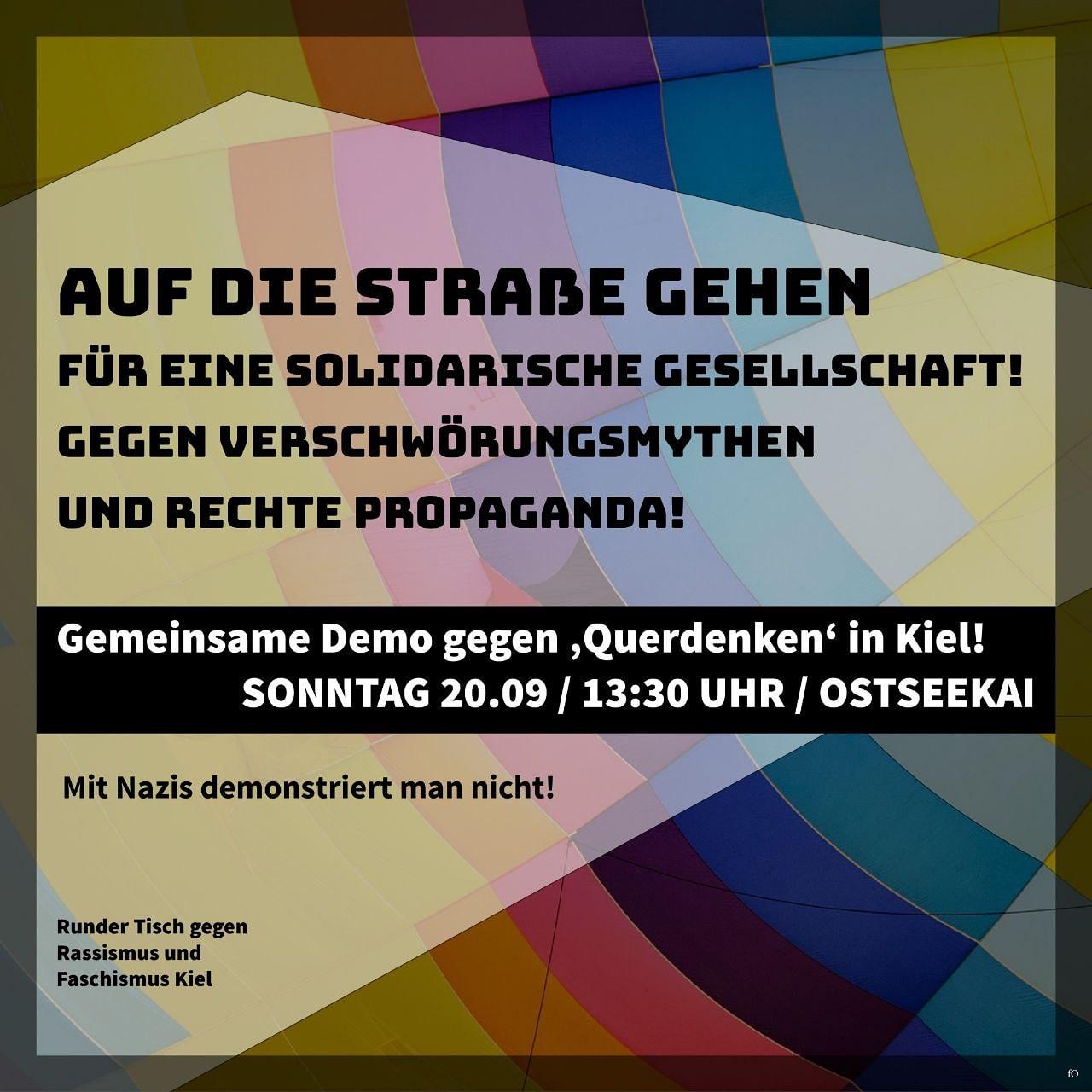 Aufruf Querdenken Gegendemo am 20.09. um 13.30 Uhr am Ostseekai